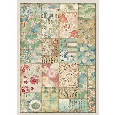 Rice Paper - Decoupage - Stamperia - 1 x A4 Size Sheet - Patchwork