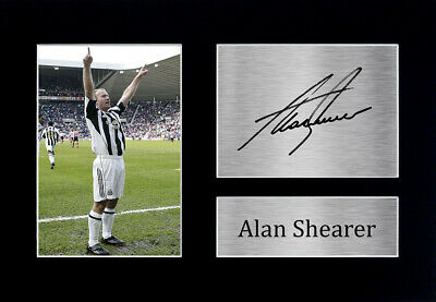 Alan Shearer Signed Pre Printed Autograph Photo Gift For a Newcastle Utd Fan