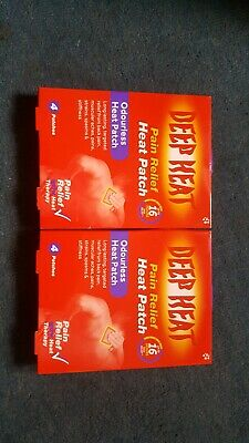 2 x DEEP HEAT PAIN RELIEF ODOURLESS BACK PATCH - 4 PATCHES