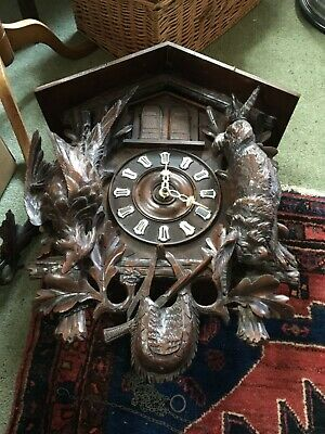 Black Forest Musical Cuckoo clock c1900 WITH TOP PIECE.