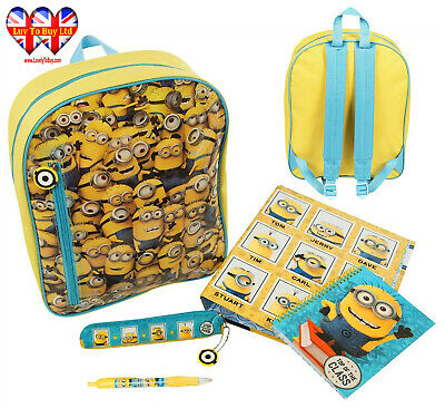 Minions Backpack,Despicable Me Minion Filled Backpack Set,Official Licensed