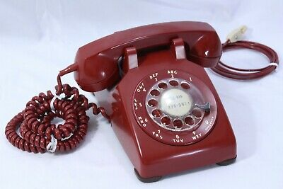 1962 Western Electric RED Rotary Dial Desk Phone Telephone 500DM TESTED Guarante