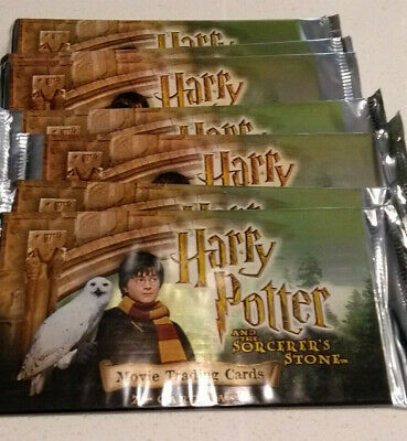 10 Packs Harry Potter Sorcerers Stone Movie Trading Card - Factory Sealed Packs