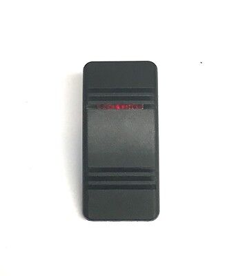 Euro Rocker Black Switch Cover with 1 Blue Lens B... Fits Carling Technologies