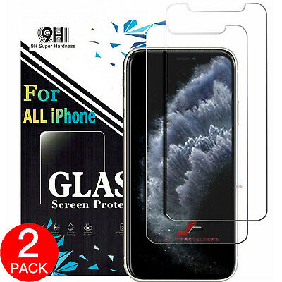2x Apple iPhone 11 Pro XS Max XR X Front /Back Tempered Glass Screen Protector
