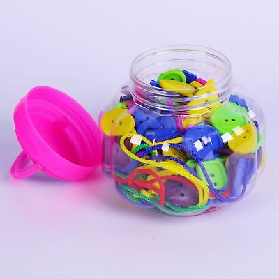 Large Plastic Threading Buttons for Kids & Craft 4 Threading Laces 200 Pieces