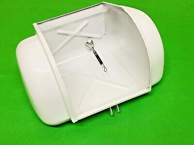 Lambretta S3 Toolbox / Glovebox Painted In White Gloss C / W Spring