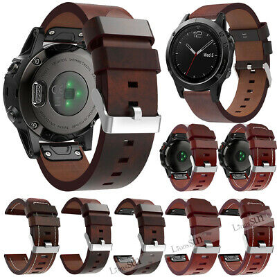 Genuine Leather Strap Watch Wrist Band For Garmin Fenix 6 6X Pro Solar Fenix 6S
