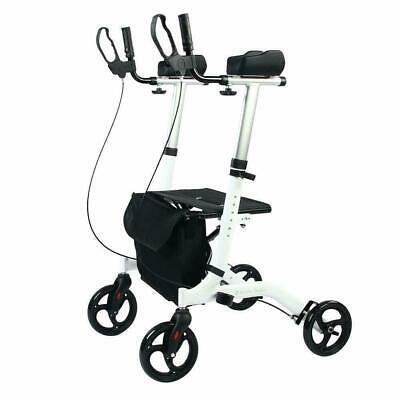 BEYOUR WALKER Upright Rollator Walker Euro Style Stand Up Walker White HCT-9137B