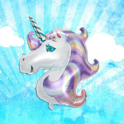 1/5Pcs Aluminum Rainbow Unicorn Horse Foil Balloon Kid Birthday Party Xmas