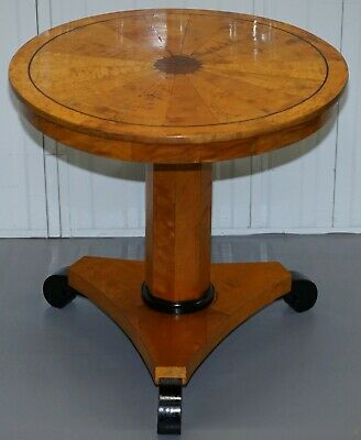 Lovely 1880 Antique Satin Birch Biedermeier Centre Occasional Cocktail Table