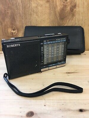Roberts Small Portable Band 9 Radio FM Stereo MW/SW1-7 with Case