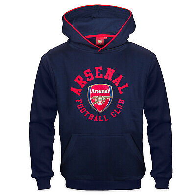 Arsenal FC Official Football Gift Boys Fleece Graphic Hoody Blue