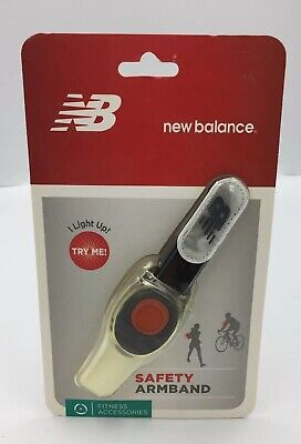 NEW BALANCE Safety Armband Fitness Halloween LED Glow Light Blinking Flashing