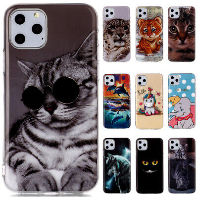 For iPhone 11 Pro Max XS Max XR 8 7 6 Slim Painted Soft Silicone TPU Case Cover