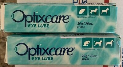 Optixcare Eye Lube Lube for Dogs & Cats (20 gram) 2 PACK DAMAGED OUTER BOX
