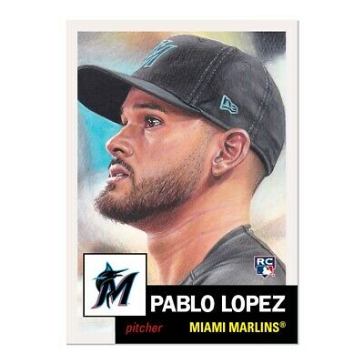 Topps Living Set #236 Pablo Lopez ROOKIE CARD MIAMI MARLINS PRE-SALE