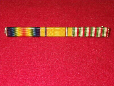 WWII WOLF BROWN RIBBON BAR - WWI Victory, American Def, WWI Italian War Service