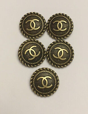 Chanel buttons set of 5