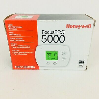 Honeywell FocusPRO 5000 Non-Programmable Thermostat TH5110D1006