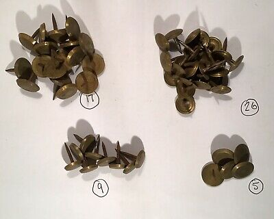 Vintage Assorted Brass Furniture Upholstery Studs