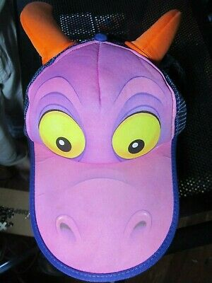 Vintage*Walt Disney World-Epcot Center*FIGMENT the DRAGON Adult Snapback Hat/Cap