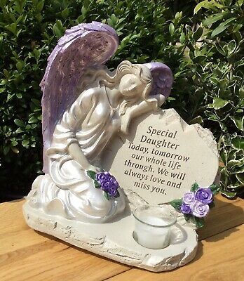 Special Daughter Angel Ornament, Graveside Memorial Remembrance Cemetery Gift