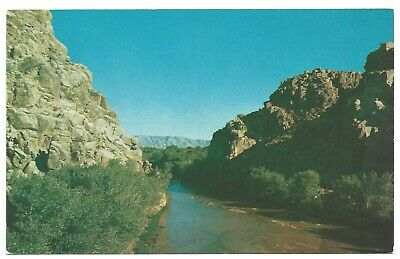 Narrows & Mojave River, CA 1960s PC by Koppel Color Cards Photo by Merle Porter