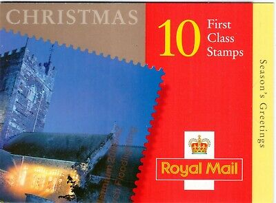 GB 2000-2005 Christmas Stamp Booklets, LX19-LX30 (NVI 1st and 2nd class panes).