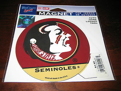 "FSU FLORIDA  STATE Magnet; New in Package; SEMINOLES; Colorful 4""; Official NCAA"