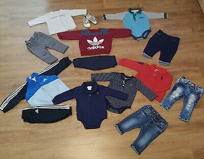 Designer Baby Boys Bundle Of Clothes Age 3-6 Months Ralph Lauren Adidas Baker 💙