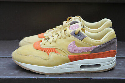 NIKE AIR MAX 1 Crepe Sole Wheat Gold Rust Pink size 8 in
