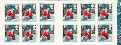 GB 2006-2010 Christmas Stamp Booklets, LX 31-LX 40 (1st & 2nd NVI panes).