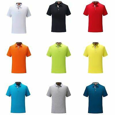 Mens Short Sleeve Polo Shirts Casual Formal Classic Fit Shirts Golf Uniform Tops