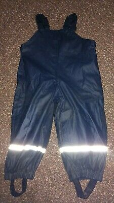 Baby Boys/Girls Fleece Lined Waterproof Dungarees/Trousers 1-2 years  12-24 mths