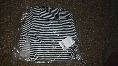 BNWT Girls NEXT Black/White Polo Neck Ribbed Jumper Age (3-) 4 Years long sleeve