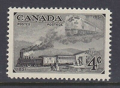 Canada No 311, Stamp Centenary, Trains Of 1851 & 1951  Mint Nh