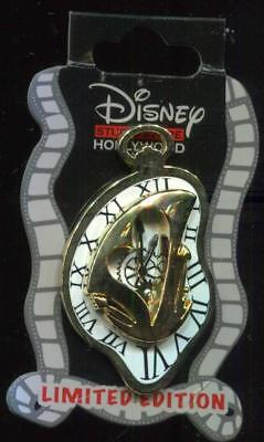DSSH Alice Through Looking Glass Gold Mad Hatter Clock LE 300 Disney Pin 115729