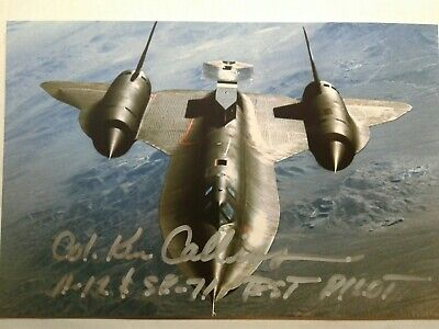 KEN COLLINS Authentic Hand Signed Autograph 4X6 Photo - TEST PILOT