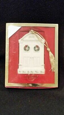 """VINTAGE 2000 ANNUAL LENOX 1st YEAR IN OUR NEW HOME ORNAMENT IN BOX  3 3/8""""H"""