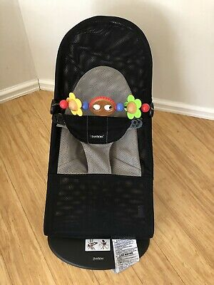 Baby Bjorn Bouncer (Mesh) with official Wooden Toy Bar.