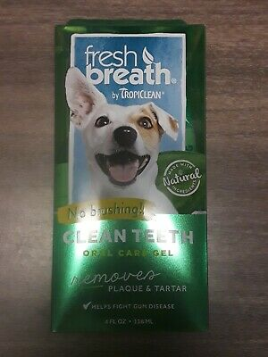 Tropiclean Fresh Breath No Brushing Dental Care Plaque Remover Gel For Dogs 4...