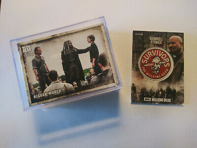 Topps Walking Dead Season 8 Complete Set 1-100 With Free Patch Card Gabriel