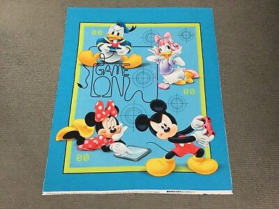 Mickey Mouse Fabric Panel Disney Baby Nursery Cot Quilt Panel Minnie MARKED