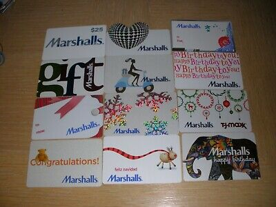 Marshalls   12 different new collectible gift cards