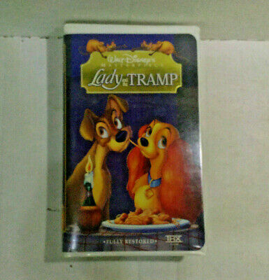 Lady and the Tramp VHS 1998 Masterpiece Edition Digitally Mastered Hi-Fi Stereo