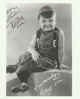 Orig Press Photo Our Gang Hand Signed Porky Lee 8X10