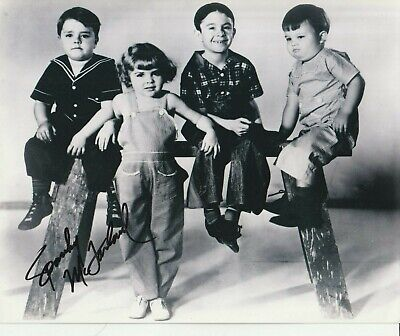 Orig Press Photo Our Gang Hand Signed Spanky Mcfarland 8X10