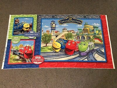 Kids Quilting Fabric Train Fabric Panel Boys Cartoon Chuggington Cot Quilt Panel