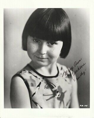 Orig Press Photo Our Gang Hand Signed Mary Ann Jackson 8X10